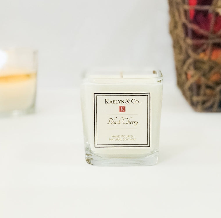Black Cherry Small Cube Candle
