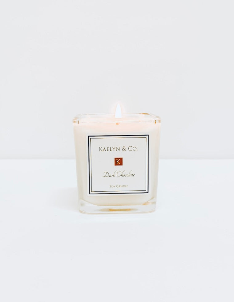 Dark Chocolate Small Cube Candle - Kaelyn & Co.