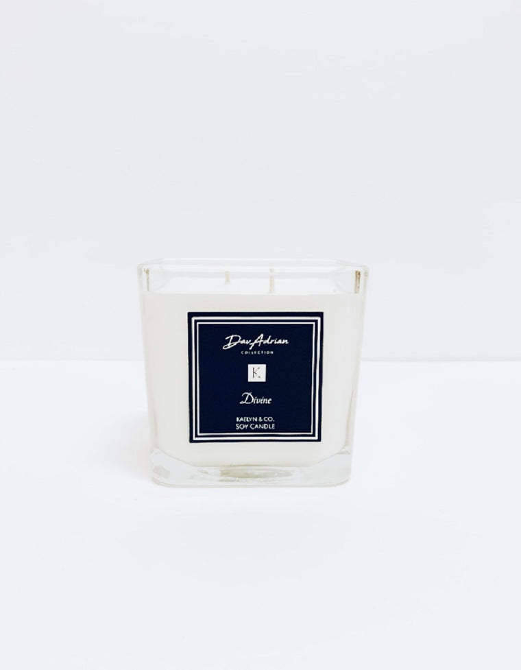 DavAdrian Collection Divine Medium Cube Candle - Kaelyn & Co.