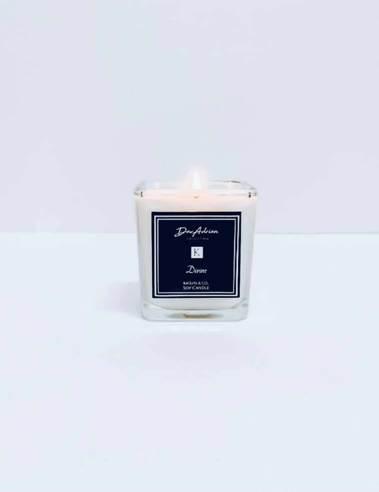 DavAdrian Collection Divine Small Cube Candle - Kaelyn & Co.