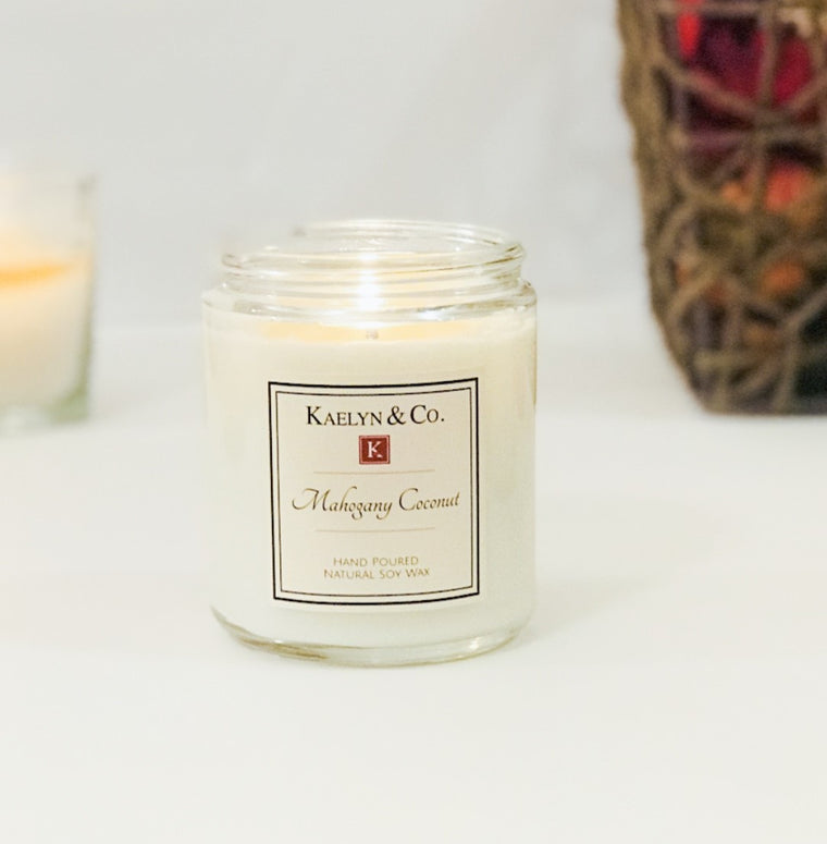 Mahogany Coconut Medium Jar Candle - Kaelyn & Co.
