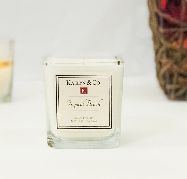 Tropical Beach Small Cube Candle
