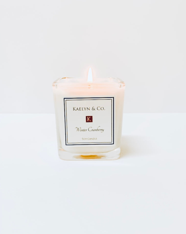 Winter Cranberry 6oz Soy Candle - Kaelyn & Co.