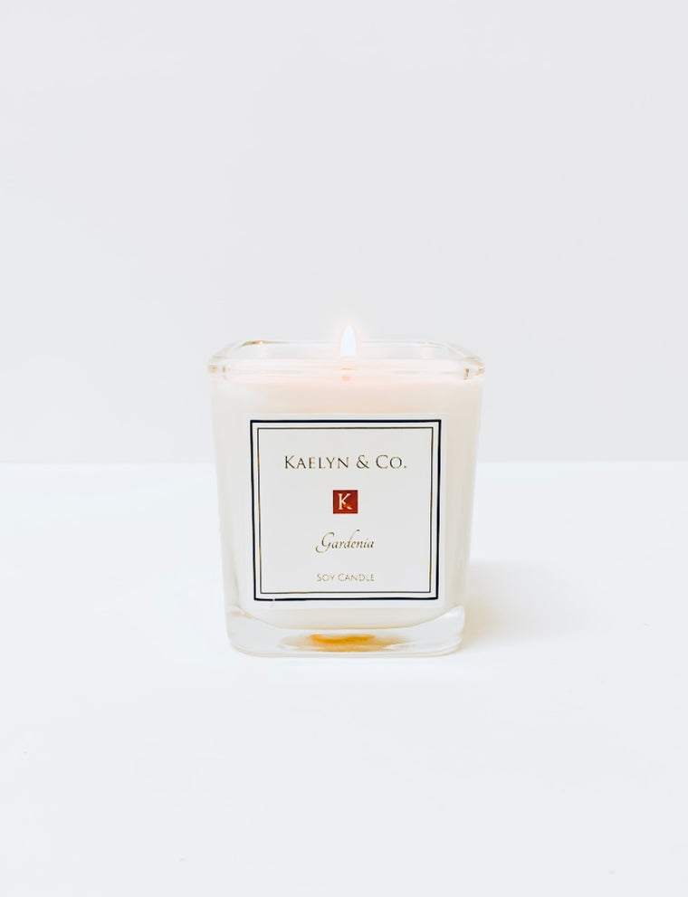 Gardenia Small Cube Candle - Kaelyn & Co.