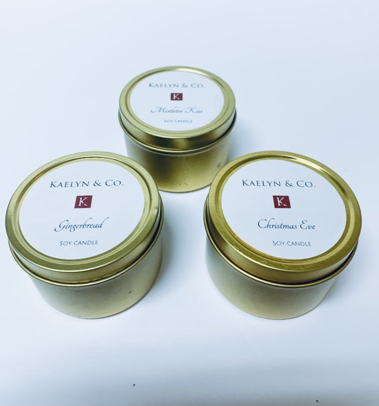Gold Travel Candles