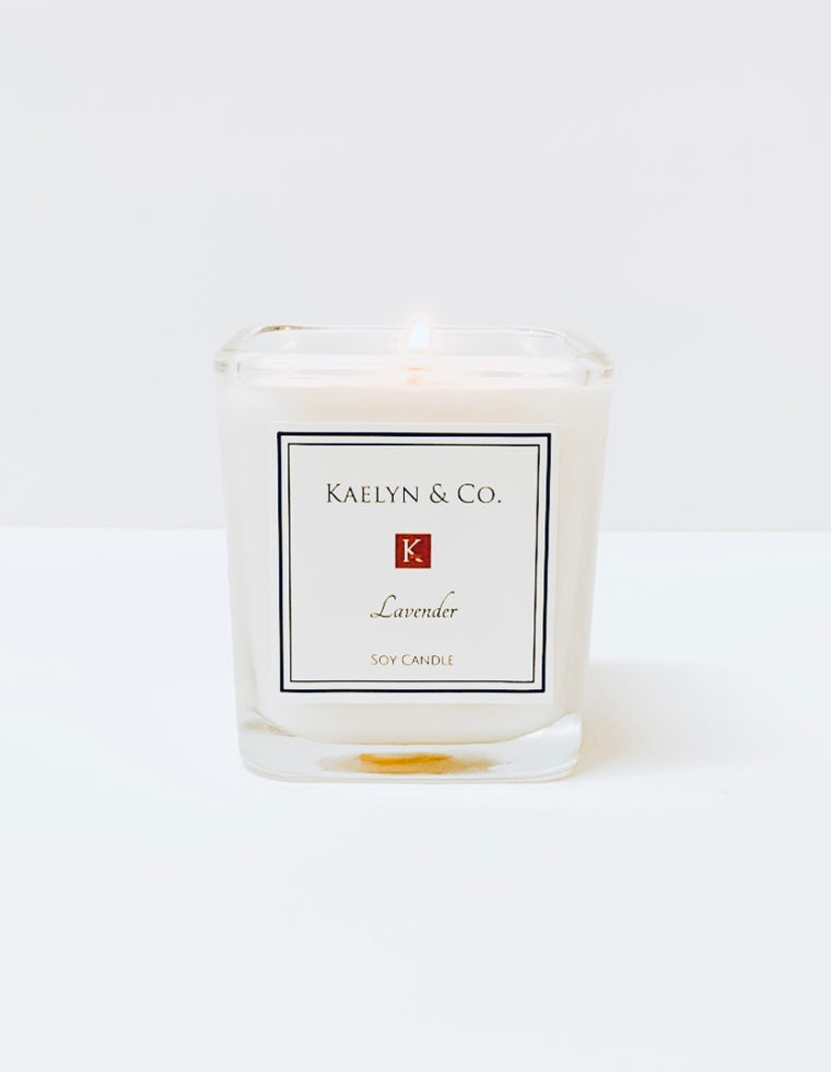 Lavender Small Cube Candle - Kaelyn & Co.