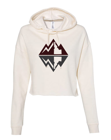 Mountain Reflection Cropped Hoodie