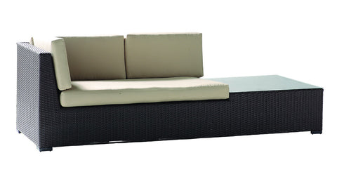 Kayana Double Sofa Sunbrella Cushion w/ Side Table