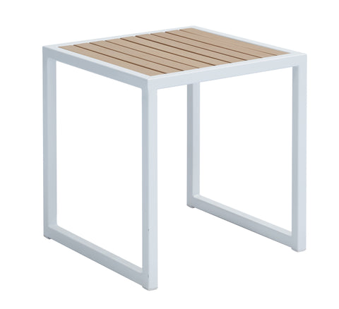 Remix Resin Wood Slats Side Table