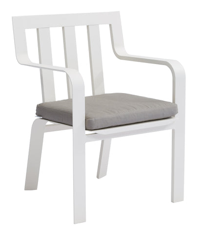 Luka Stackable Dining Armchair w/ Polyester Cushion