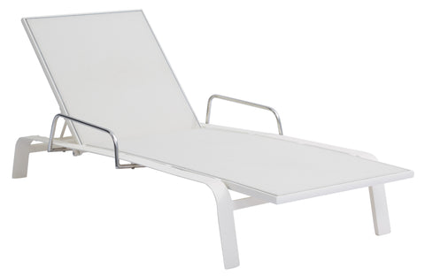 Luka Sling Lounger with Stainless Steel Armrest