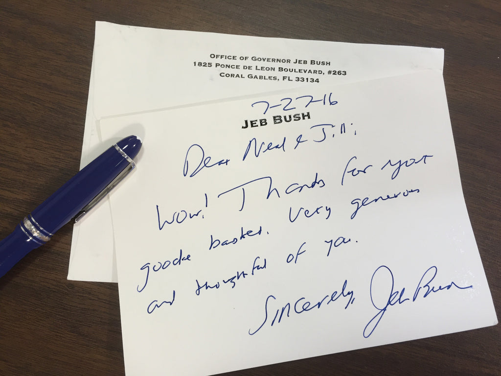 Thank You Note from Jeb Bush for Lucy's Market