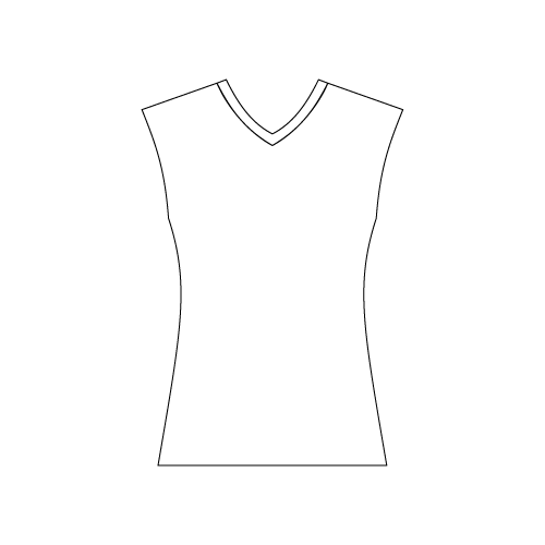 Ladies Sleeveless V-Neck