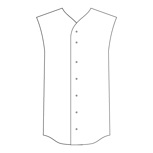 Sleeveless Full-Button Baseball