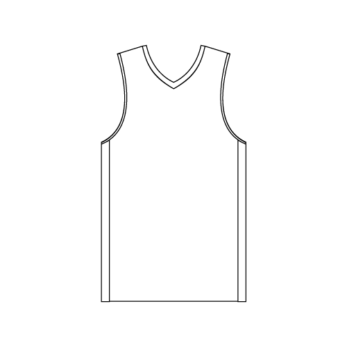 Youth V-Neck Basketball with Side Panels