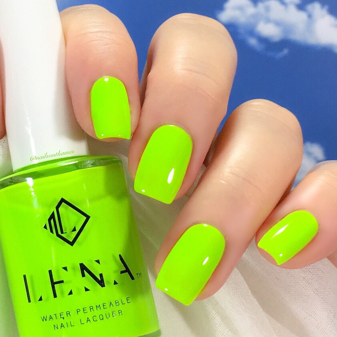 Halal Water Permeable Neon Nail Polish Bright Lights Malaysian Night Lena Nail Polish Direct