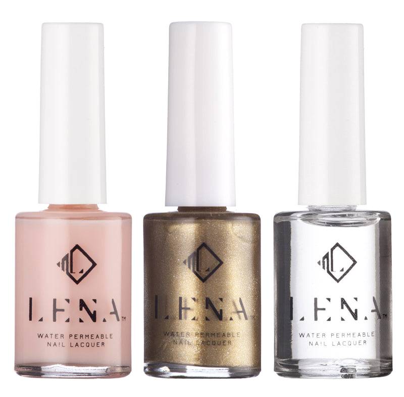 NEW** Breathable Halal Gold Tip Manicure - by LENA