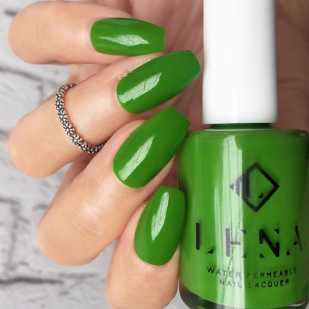 LENA - Breathable Halal Nail Polish - Green & Glam - LE97