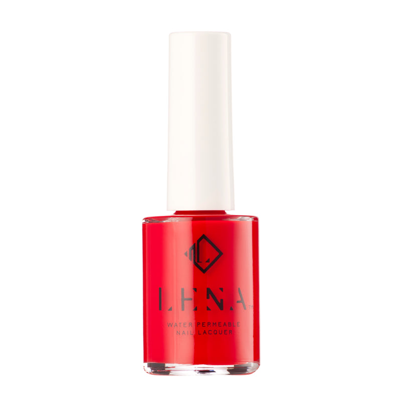 Breathable Halal Nail Polish - Red Haute - LE121 by LENA