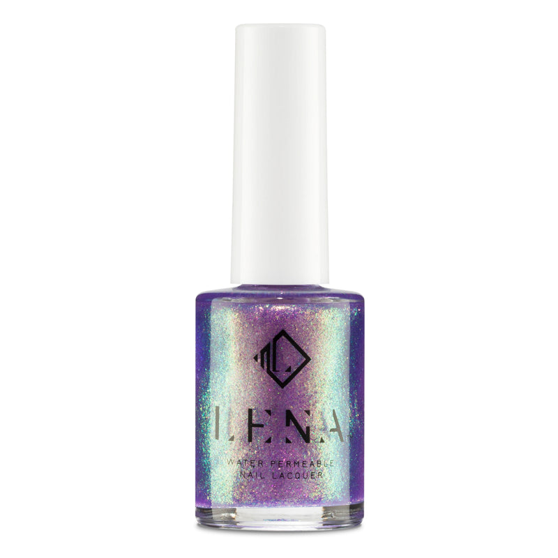 Breathable Halal Holographic Nail Polish - Purple Paradise - LE259 by LENA
