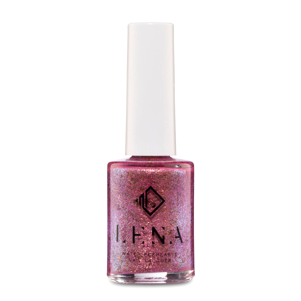 LENA - Breathable Halal Glitter Nail Polish - Polishing My Tiara - LE204
