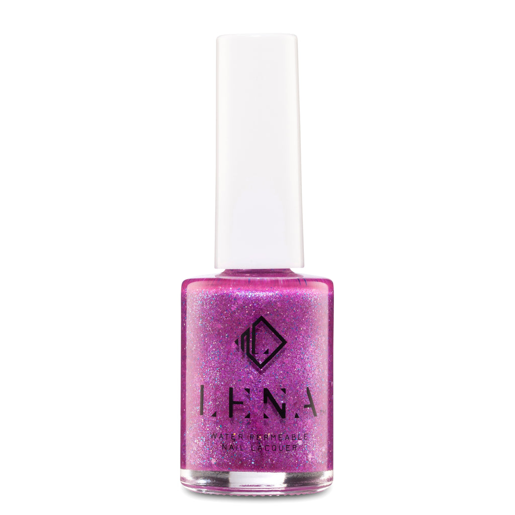 LENA - Halal Breathable Glitter Nail Polish - Light Up Your World - LE206