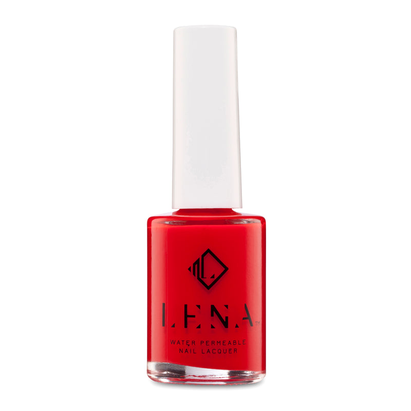 LENA Water Permeable Neon Nail Polish - Blessed in Red - LE221
