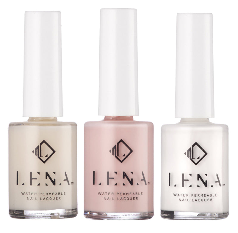 NEW** Breathable Halal Pink French Manicure - by LENA