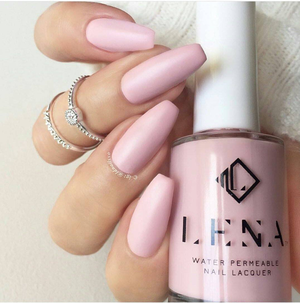 LENA - Matte Breathable Halal Nail Polish - Make Up Goals! - LE56