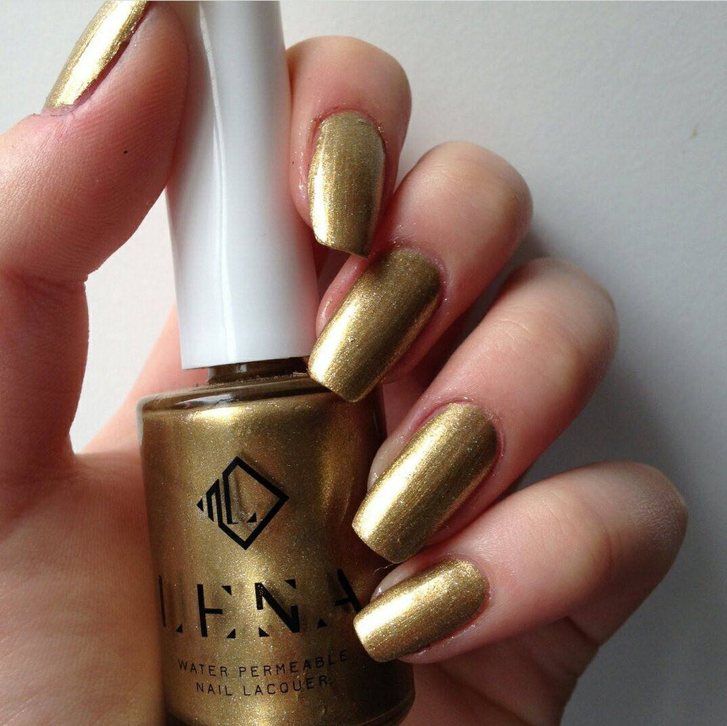 LENA - Breathable Nail Polish - Dripping In Gold - LE37
