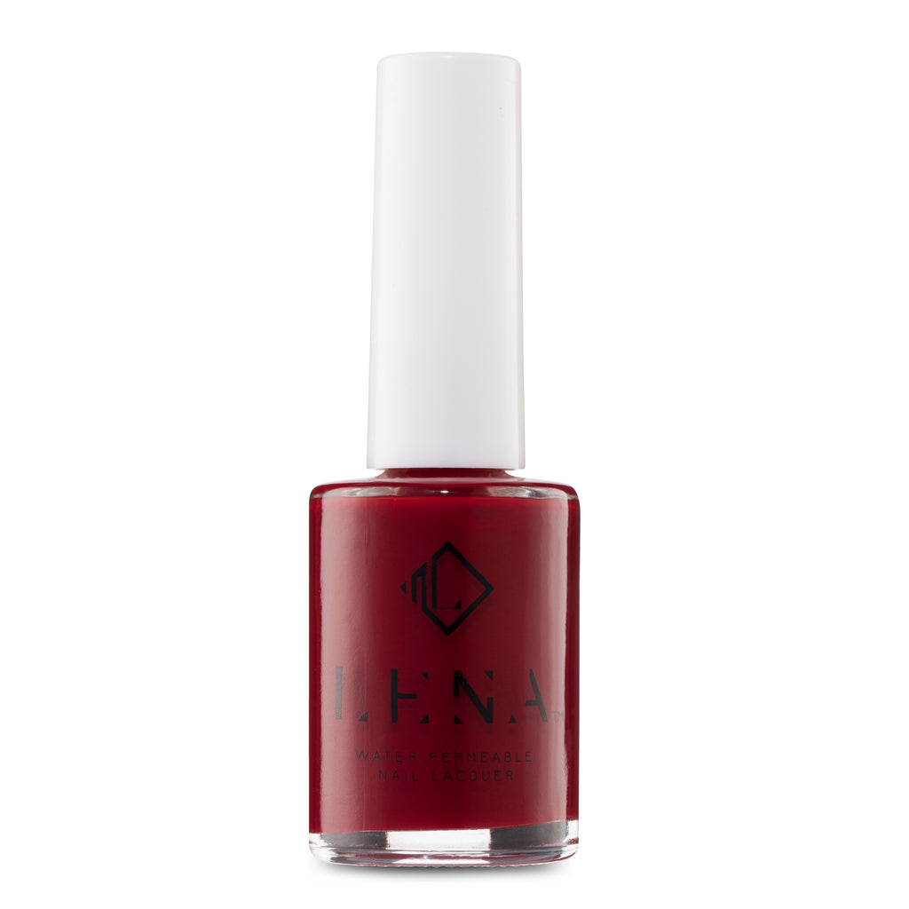 LENA Halal Nail Polish -  Breathable - Water Permeable Nail Polish - Red Sea - LE225