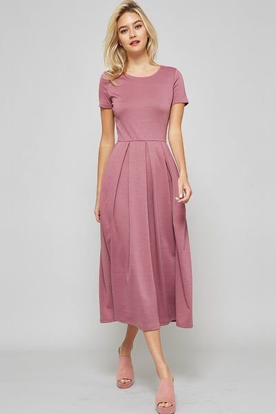 Fit And Flare Midi Dress