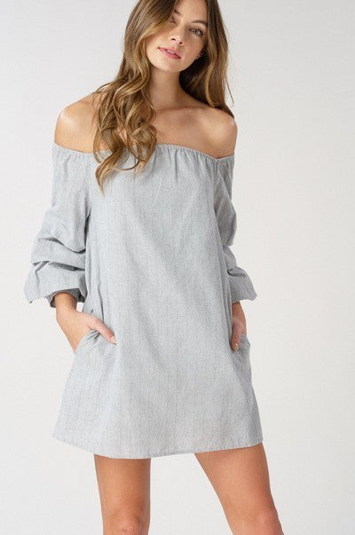 Striped Off The Shoulder Tunic