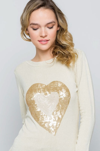 Sequins Heart Top