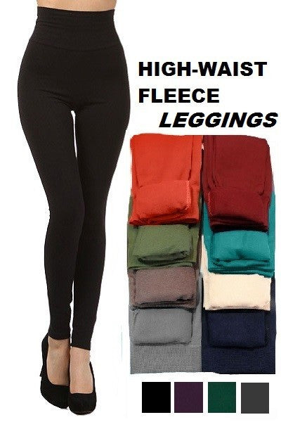 Tummy Control Fleeced Leggings