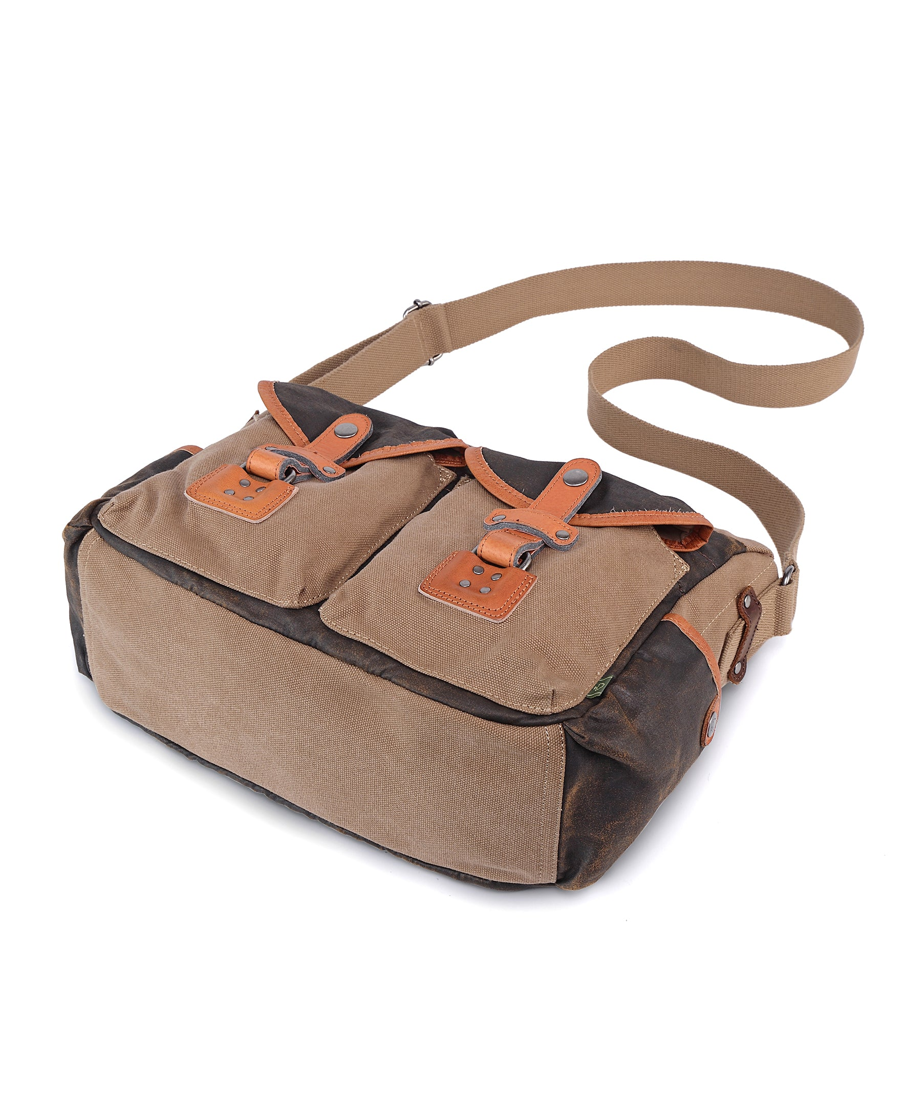 Tapa Two-Tone Canvas Mail Bag