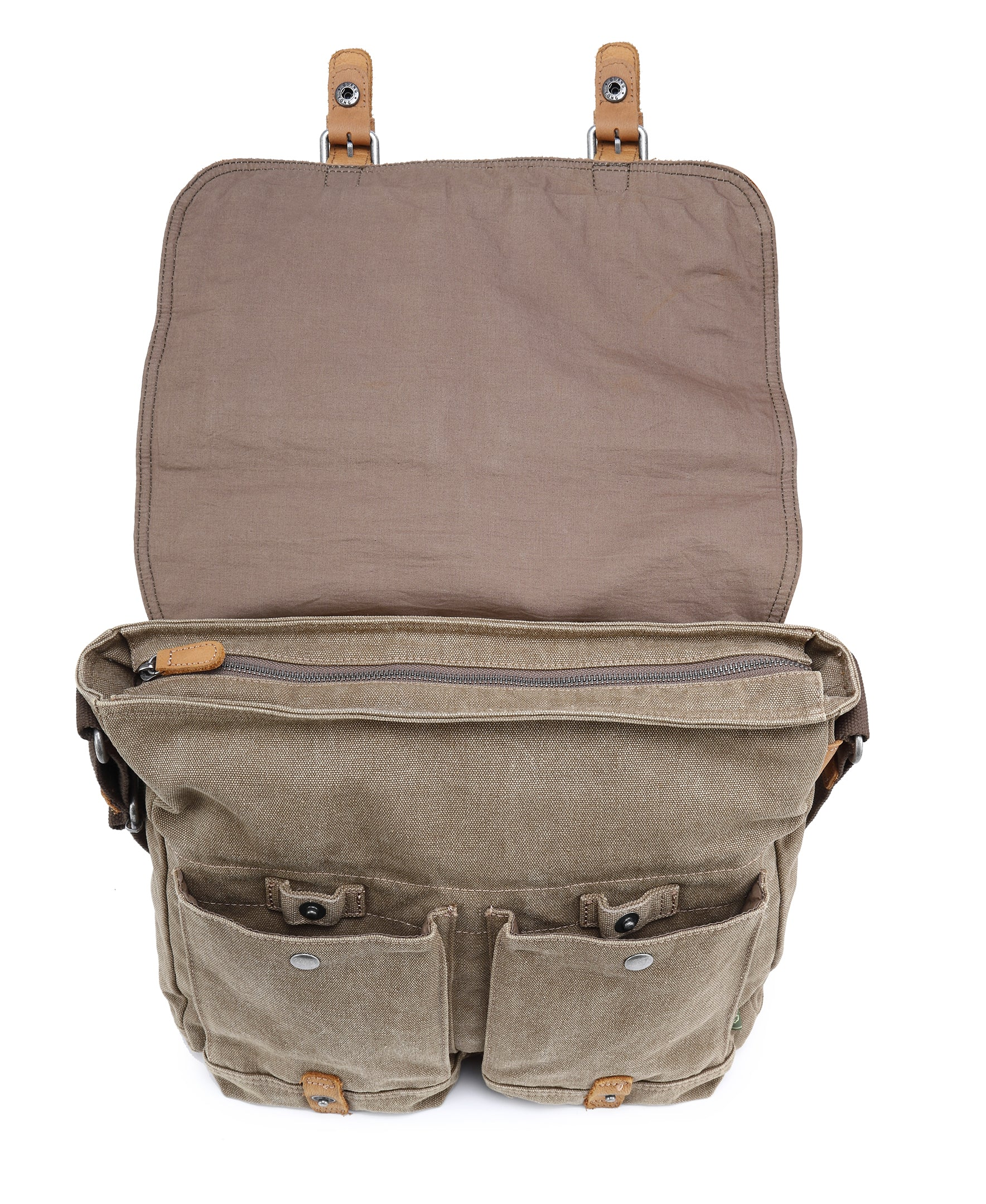 Valley River Canvas Messenger Bag