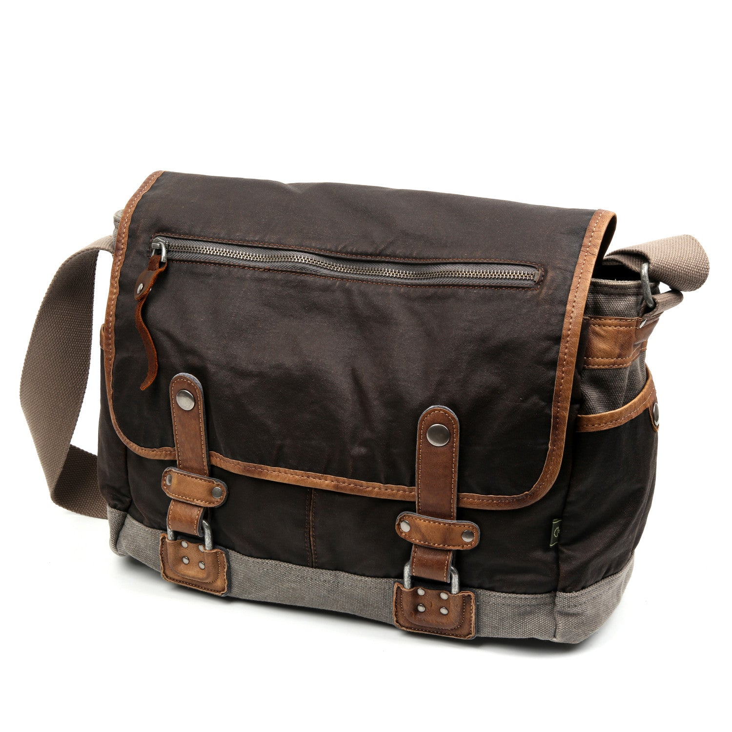 Tapa Two-Tone Canvas Messenger Bag