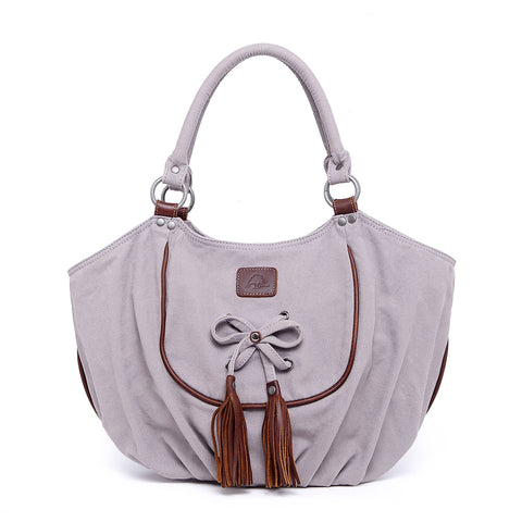 Bold Lotus Canvas Hobo