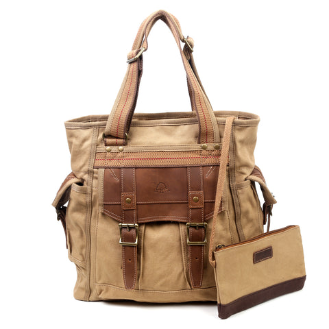 Tapa Two-Tone Canvas Tote