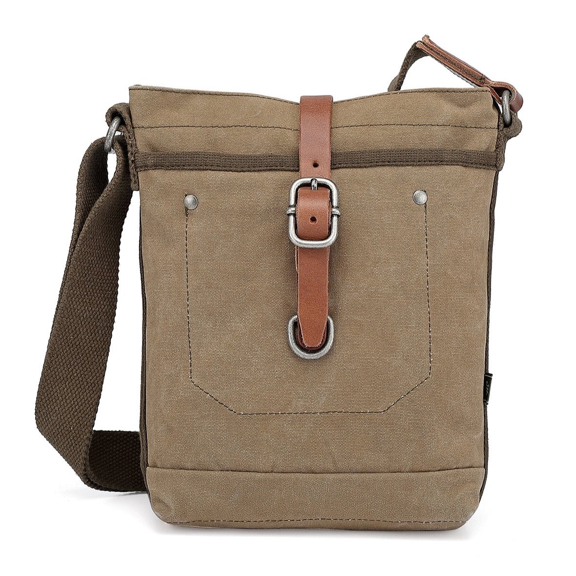 Forest Military-Inspired Canvas Crossbody Bag