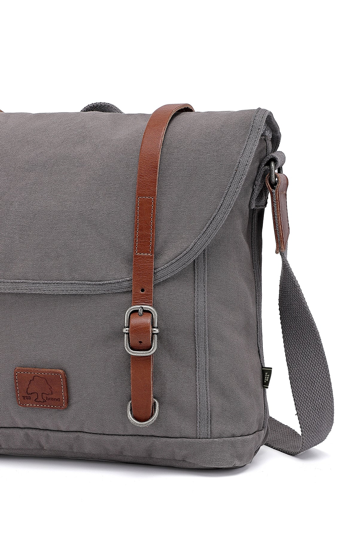 Forest Military-Inspired Canvas Messenger Bag