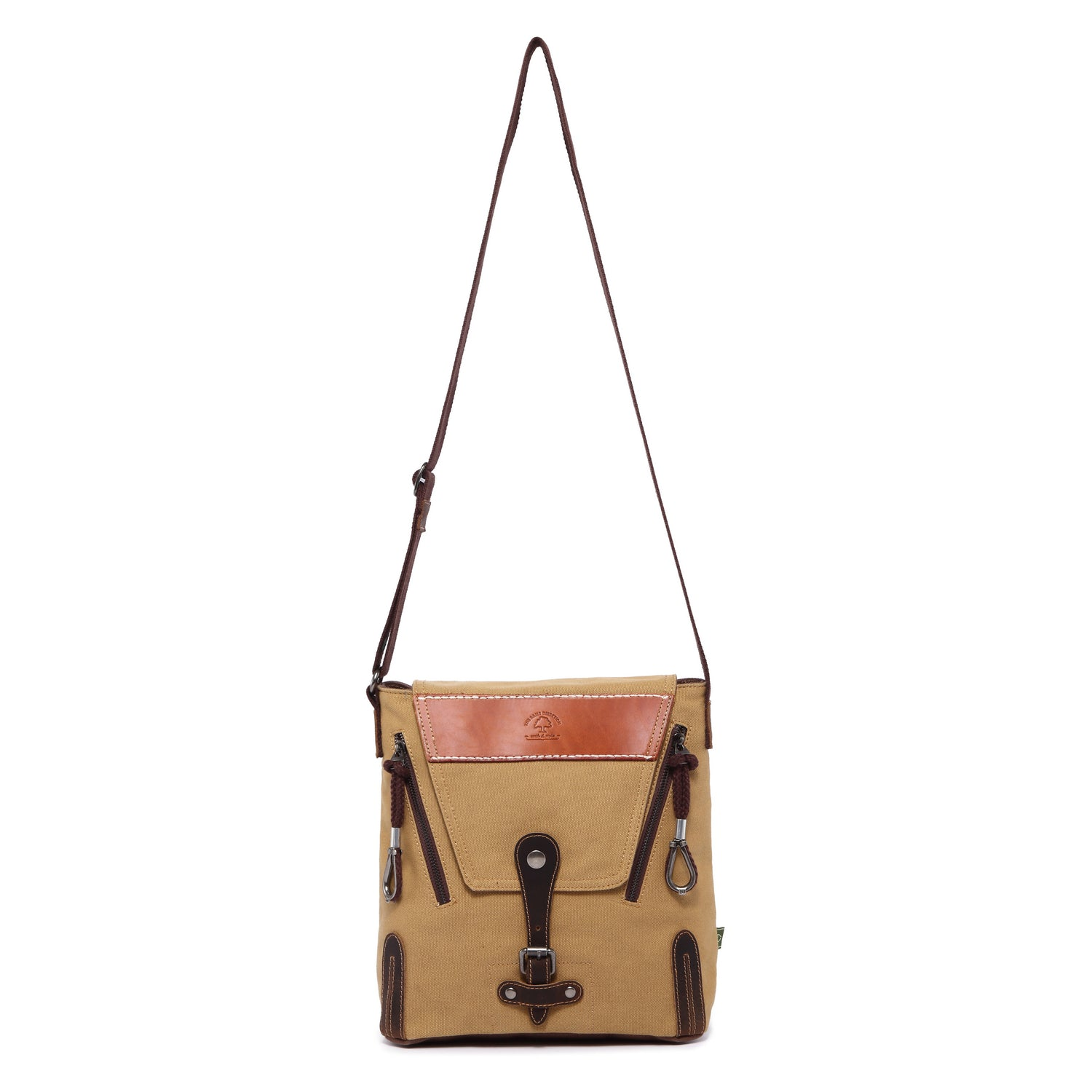 Hidden Woods Canvas Crossbody with Flap Bag