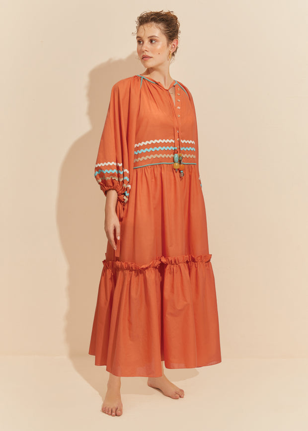 The Gypsy Monroe Dress - CORAL