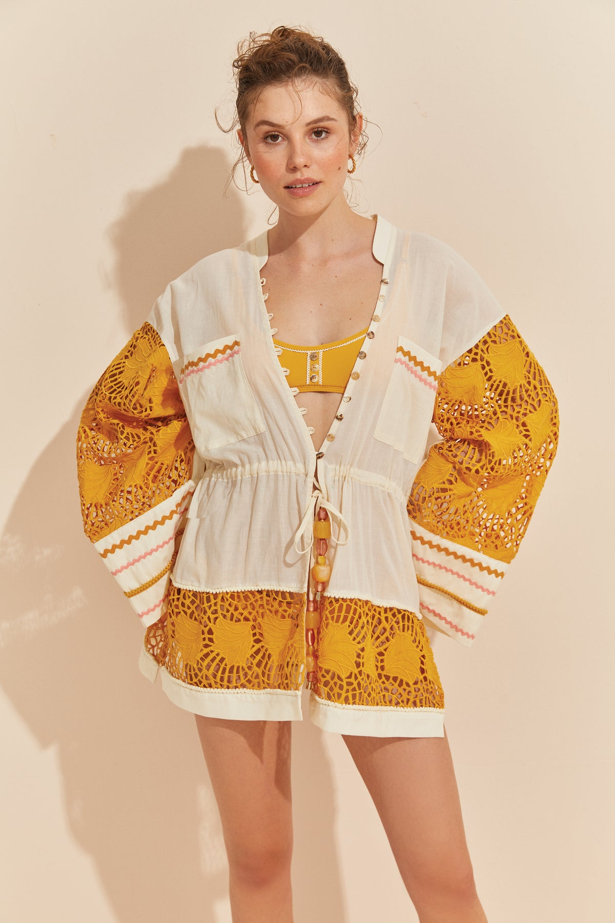 Afternoon Tea Kimono - HONEY