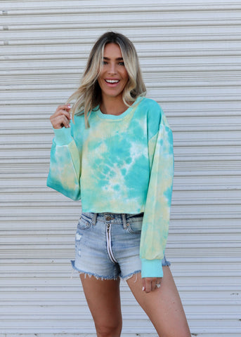 Oceanside Tie Dyed Sweater