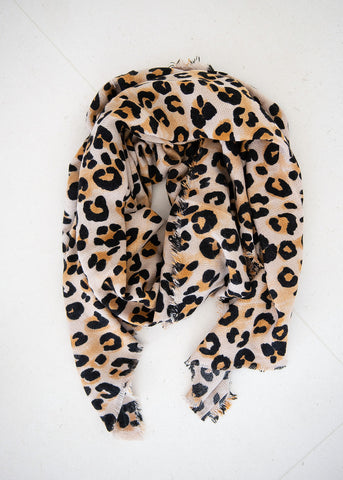 Spotted Leopard Wrap Scarf