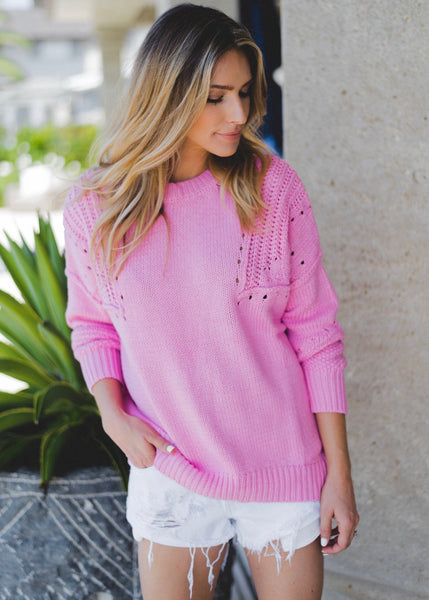 Pretty In Pink Sweater