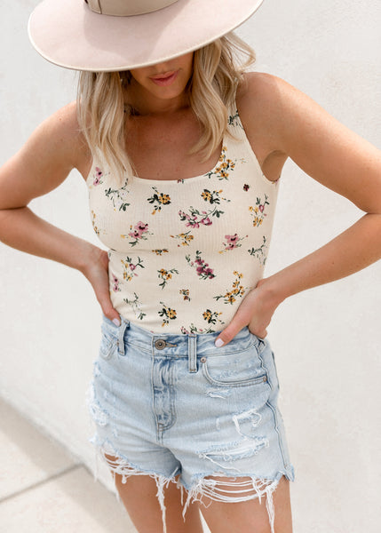 Lillie Floral Bodysuit - Cream