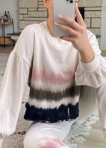 Selene Stripe Tie-Dye Sweater